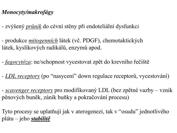 Monocyty/makrofágy
