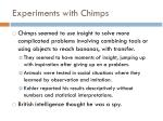 experiments with chimps
