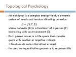 topological psychology
