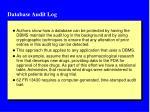 database audit log