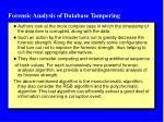 forensic analysis of database tampering1