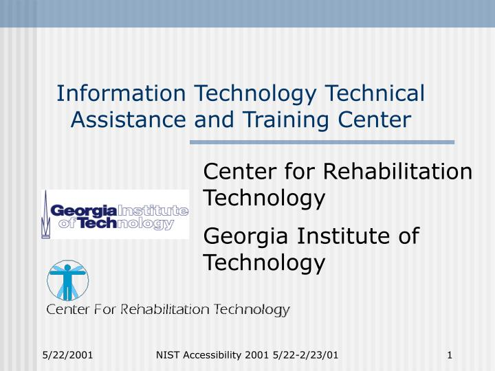 information technology technical assistance and training center n.