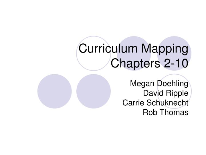 curriculum mapping chapters 2 10