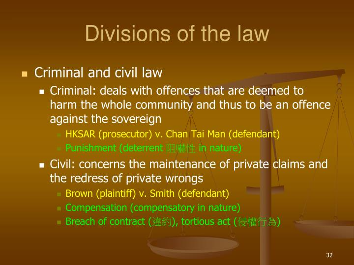 Divisions of the law