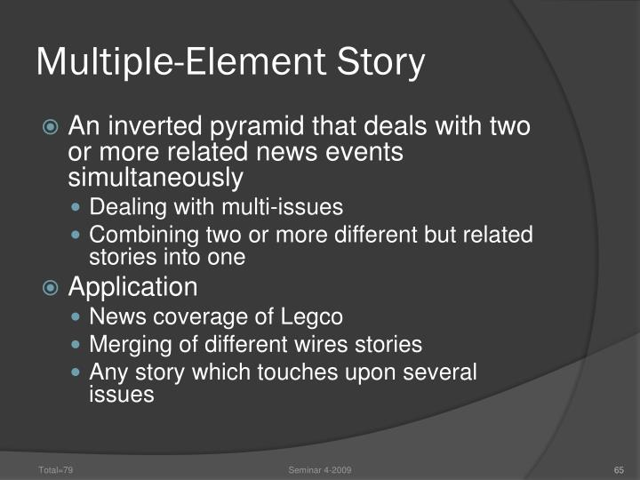 Multiple-Element Story