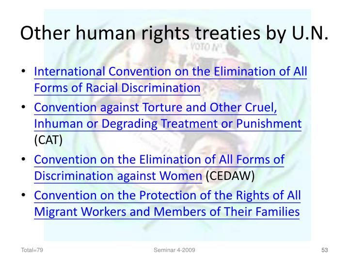 Other human rights treaties by U.N.