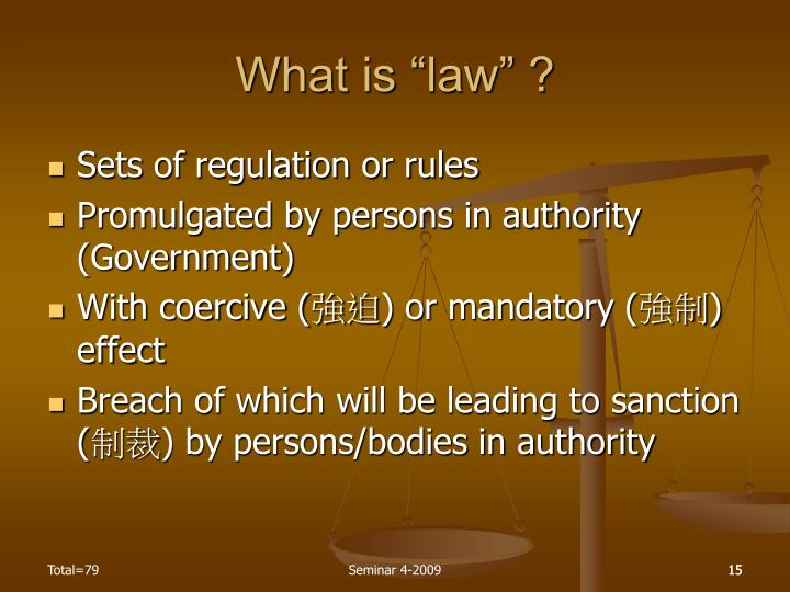 "What is ""law"" ?"