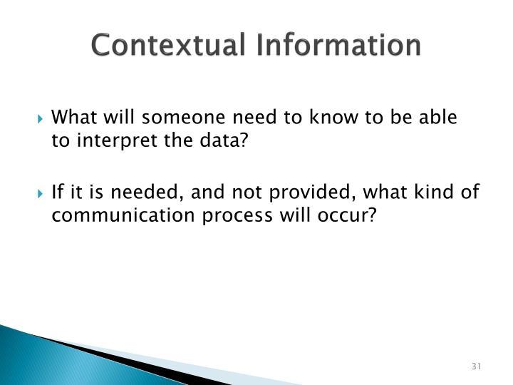 Contextual Information