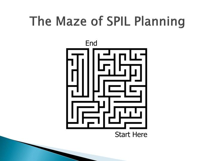 The maze of spil planning