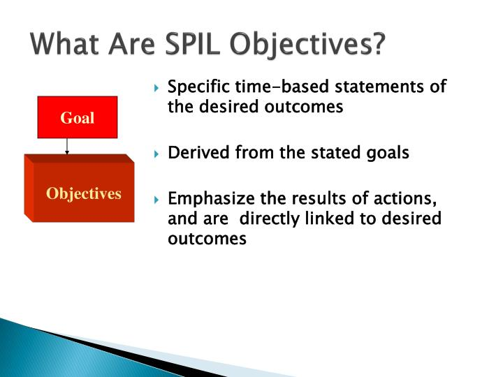 What Are SPIL Objectives?