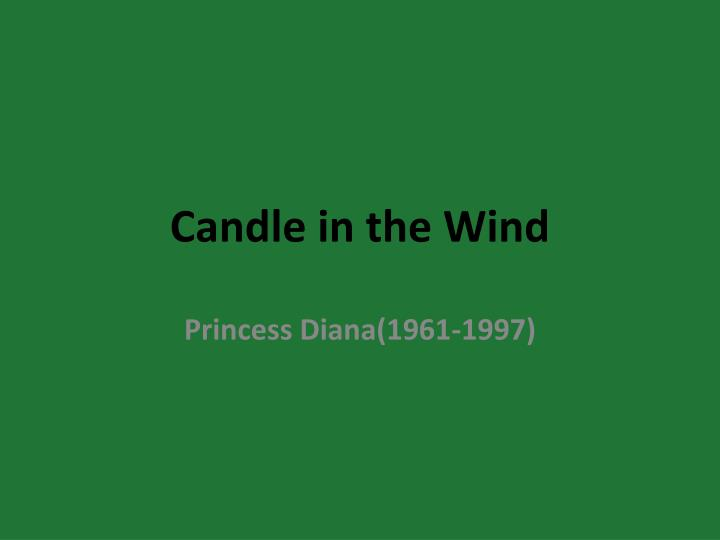 candle in the wind n.