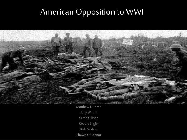 american opposition to wwi n.