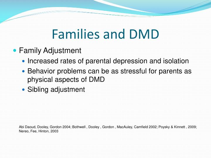 Families and DMD