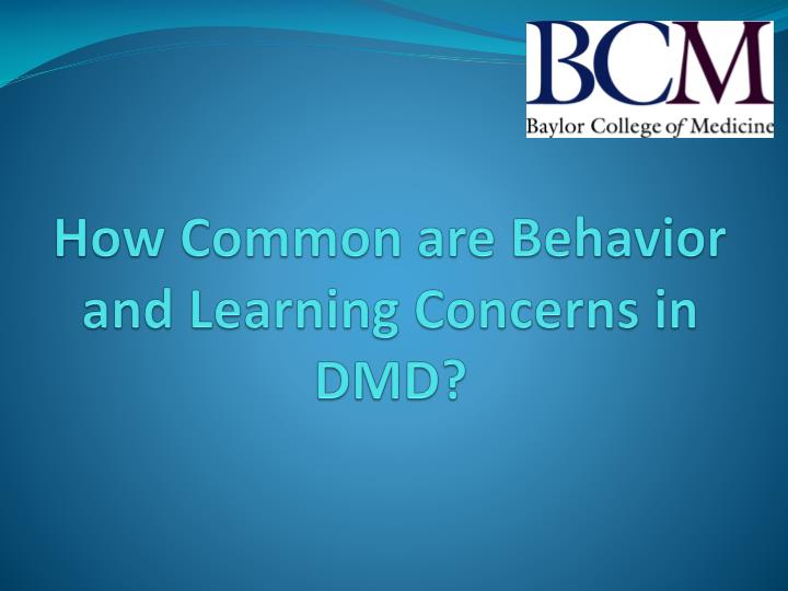 How common are behavior and learning concerns in dmd