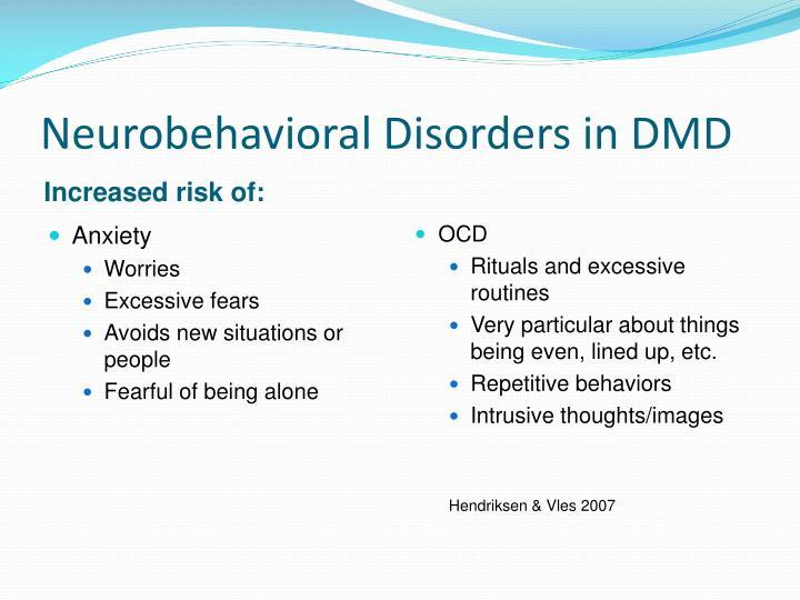 Neurobehavioral Disorders in DMD