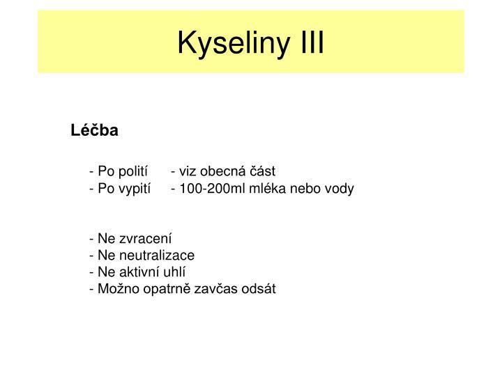 Kyseliny III