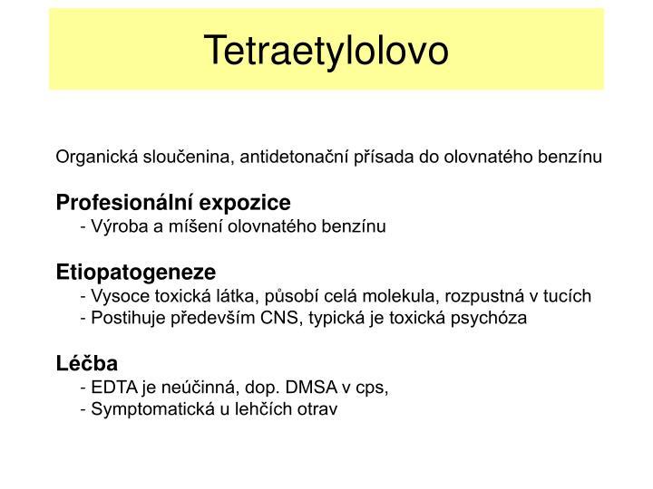 Tetraetylolovo