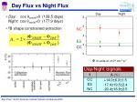 day flux vs night flux
