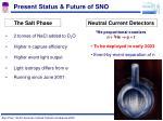 present status future of sno