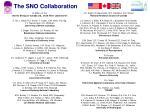 the sno collaboration