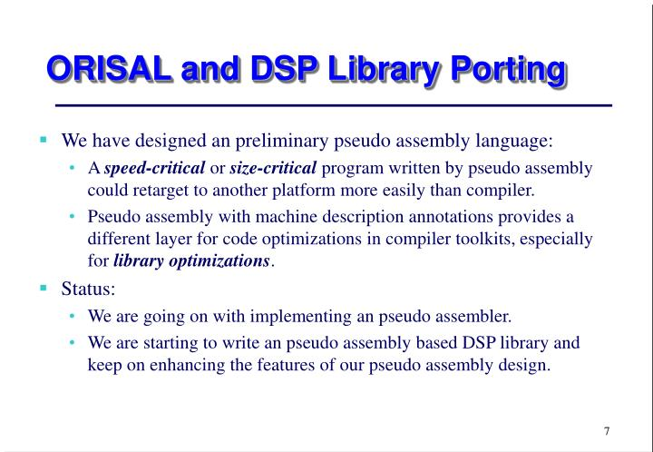 PPT - Compilers for DSP Processors and Low-Power PowerPoint