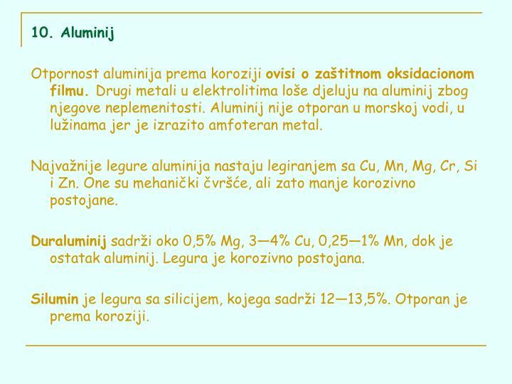 10. Aluminij