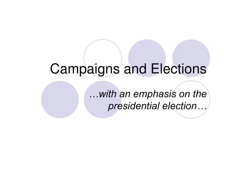 campaigns and elections n.