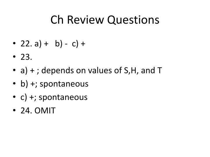 Ch Review Questions