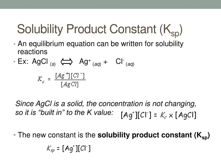 Solubility Product Constant (