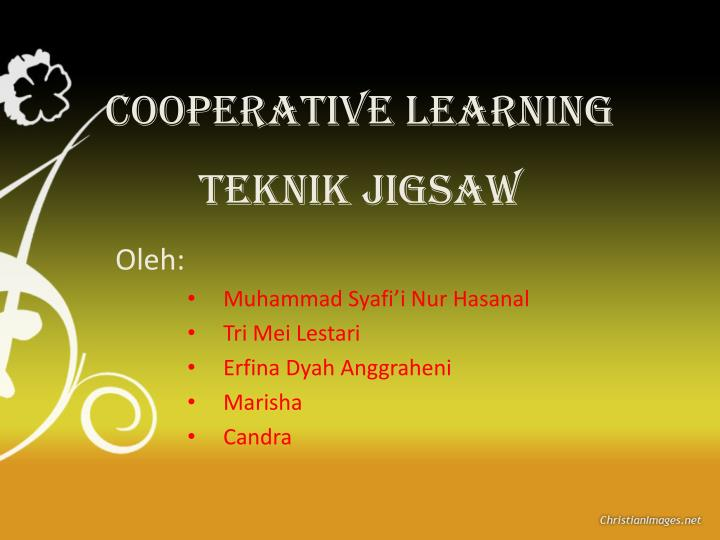 cooperative learning teknik jigsaw n.