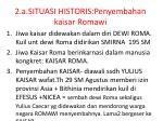2 a situasi historis penyembahan kaisar romawi