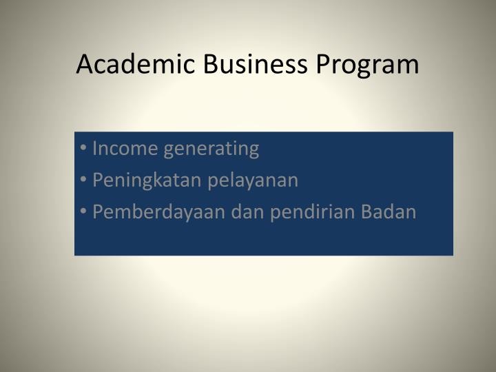 Academic Business Program