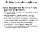 architectures des syst mes2
