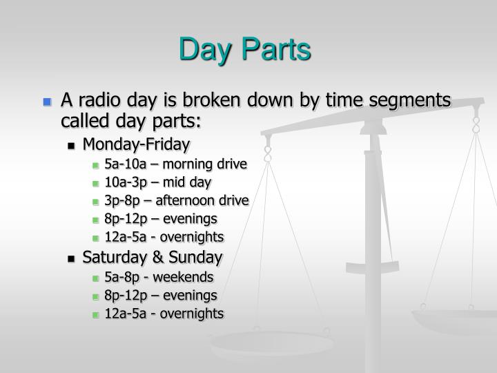 Day Parts