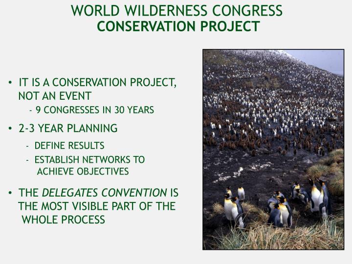 WORLD WILDERNESS CONGRESS