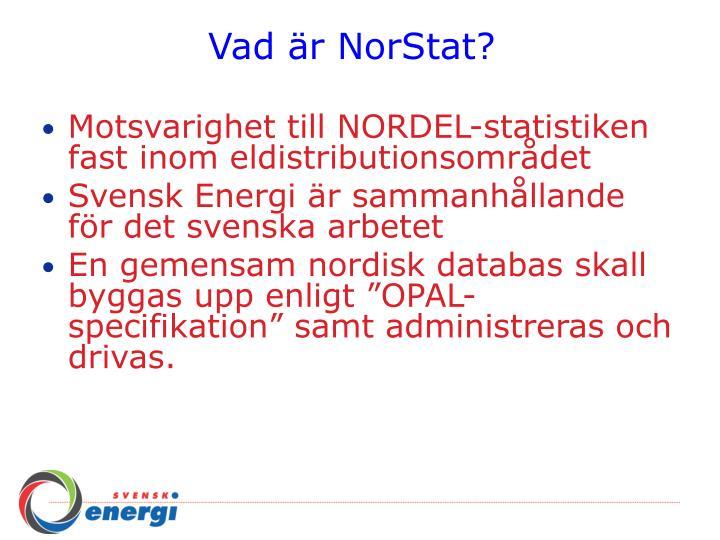 Vad är NorStat?