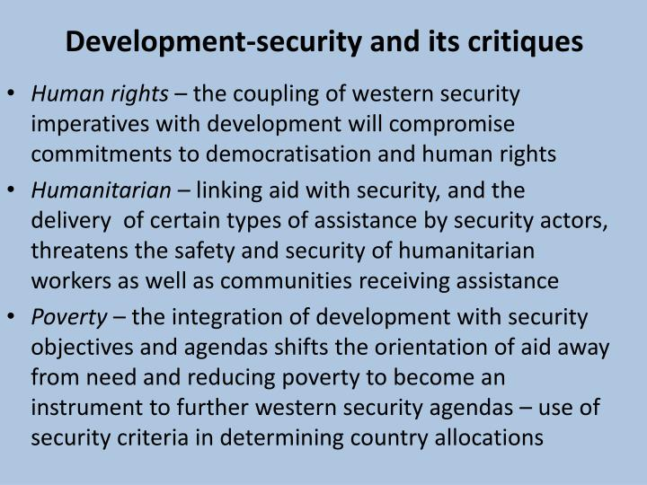 Development-security and its critiques