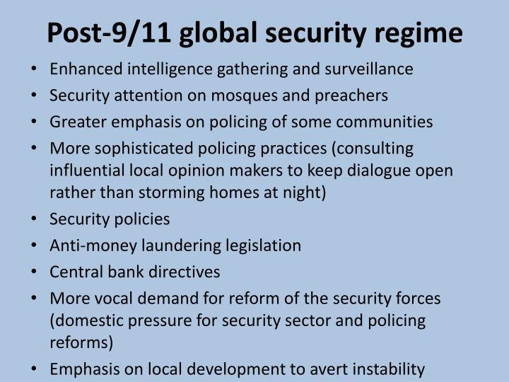 Post 9 11 global security regime