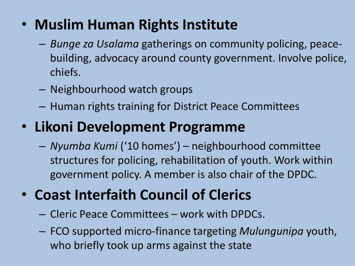 Muslim Human Rights Institute