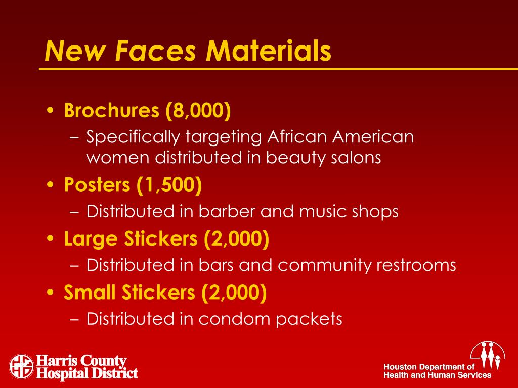 PPT - The New Faces of HIV in Houston: A Social Marketing Campaign