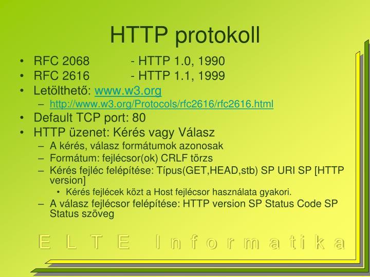 HTTP protokoll