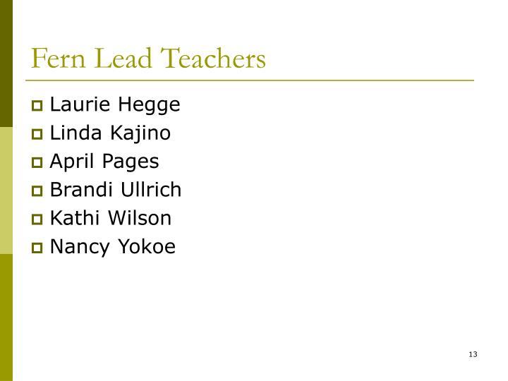 Fern Lead Teachers