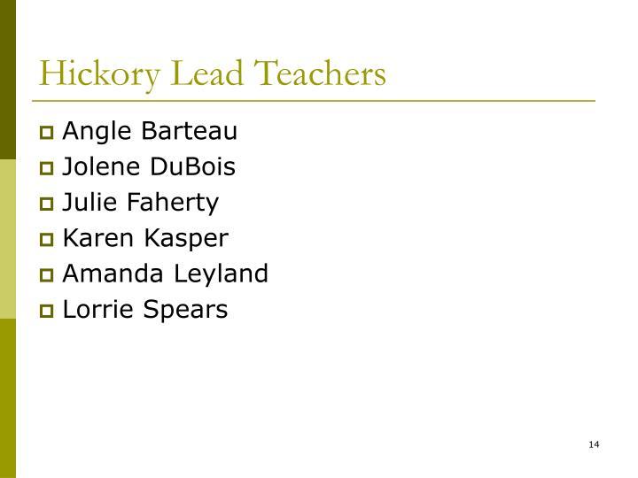 Hickory Lead Teachers