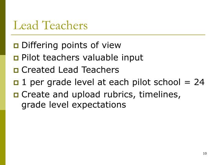 Lead Teachers