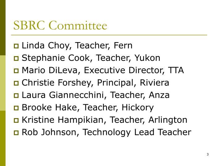 Sbrc committee1