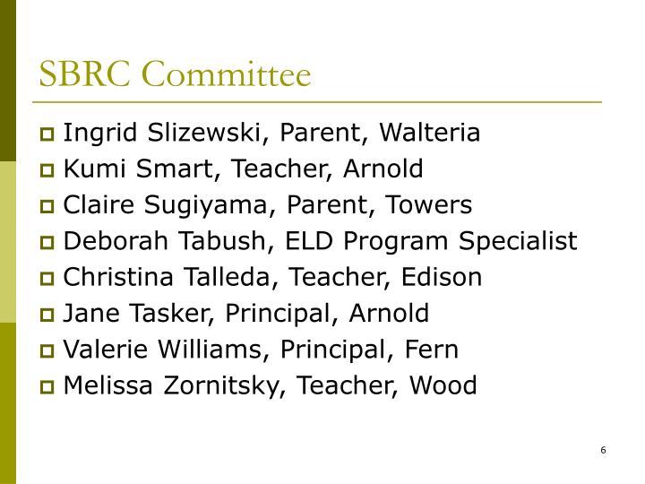 SBRC Committee
