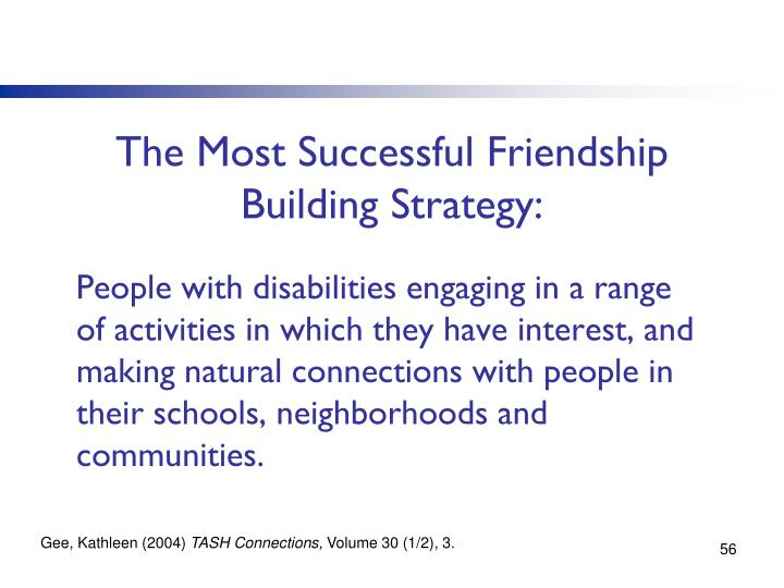The Most Successful Friendship Building Strategy: