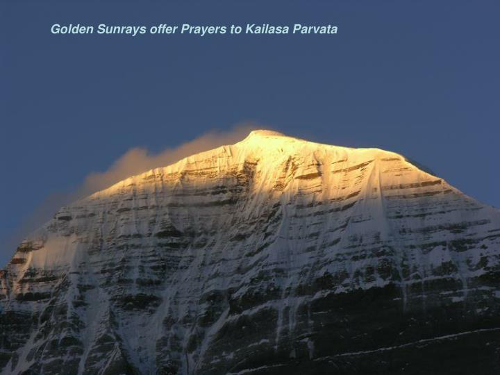 Golden Sunrays offer Prayers to Kailasa Parvata