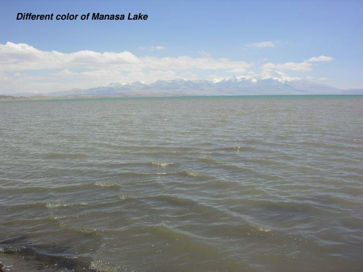 Different color of Manasa Lake