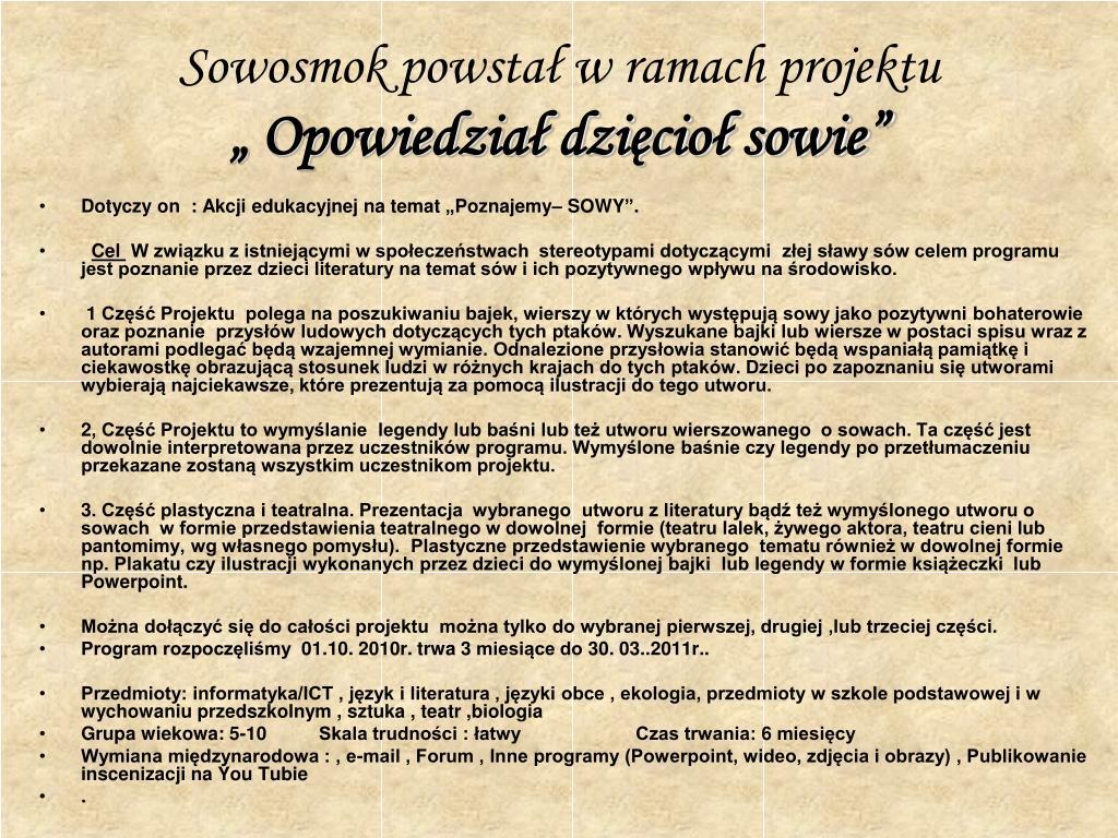 Ppt Legenda O Sowosmoku Powerpoint Presentation Free